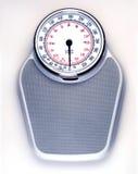 Bathroom scale. On white background closeup Stock Image