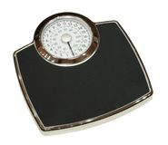 Bathroom scales isolated Stock Photos