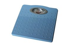 Bathroom scales isolated Royalty Free Stock Images