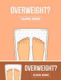 Bathroom scales with legs. Royalty Free Stock Images