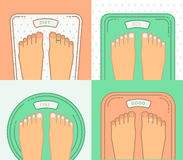 Bathroom scales with legs. Stock Photography