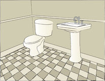 Bathroom Scene Royalty Free Stock Photography