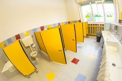 Bathroom of a school for children royalty free stock photography