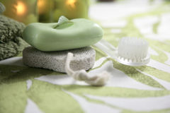Bathroom set for aromatherapy royalty free stock image