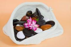Bathroom set and wellness stones Stock Photos