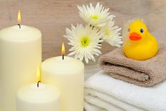 Bathroom Setting with Candles stock image