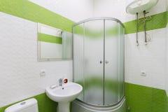 Bathroom in shades of green Stock Photos