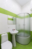 Bathroom in shades of green Stock Photography