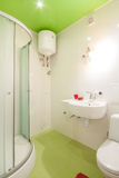 Bathroom in shades of green Royalty Free Stock Image