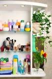 Bathroom shelf Royalty Free Stock Image
