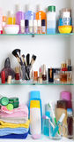 Bathroom shelf Stock Photos
