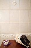 Bathroom shelf detail Royalty Free Stock Images