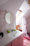 Bathroom with shower. White design Royalty Free Stock Photo