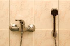 Bathroom Shower. Tap and shower in a bathroom Stock Photography