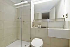 Bathroom with shower corner Royalty Free Stock Images