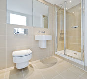 Bathroom with shower corner Royalty Free Stock Photo