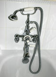 Bathroom shower taps Stock Photo
