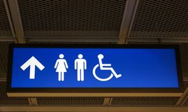 Bathroom sign Royalty Free Stock Images