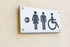 Bathroom Sign Stock Image