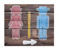 Bathroom signs. Royalty Free Stock Image