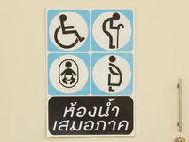 Bathroom Signs Royalty Free Stock Image