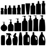Bathroom Silhouette Set Vector. Bathroom Silhouette Set in Vector Stock Image