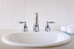 Bathroom sink royalty free stock images