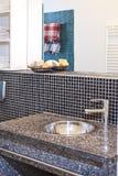 Bathroom sink. Made of tiles royalty free stock photos