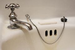 Bathroom Sink. A photo of an antique bathroom sink Royalty Free Stock Photography