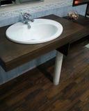 Bathroom sink. Luxury bathroom sink detail with decoration elements Royalty Free Stock Photos