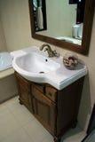 Bathroom sink. Luxury bathroom sink detail with decoration elements Stock Image