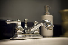Bathroom sink. My bathroom sink inside my house Stock Photography