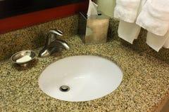 Bathroom sink. Clean modern white bathroom sink Stock Image