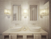 Bathroom sink consoles modern style Stock Photography