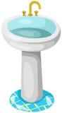 Bathroom sink. Illustration of isolated bathroom sink on white background vector illustration
