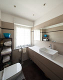 Bathroom, sink and mirror Stock Image
