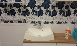 Bathroom sink model Royalty Free Stock Photography