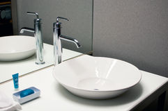 Bathroom sink with modern design Royalty Free Stock Photos