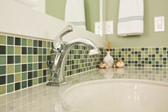Bathroom sink of an upscale home Stock Image