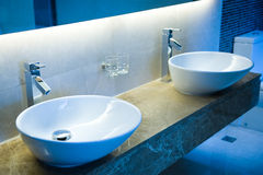 Bathroom sinks Stock Photo