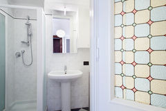 Bathroom in small apartment Stock Photography