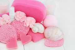 Bathroom and Spa Accessories Stock Image