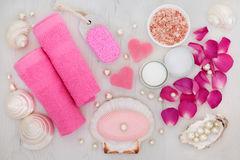 Bathroom and Spa  Beauty Treatment Accessories Stock Photography