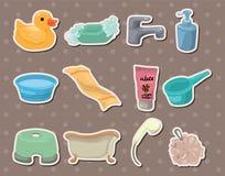 Bathroom stickers Stock Image