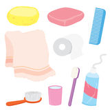 Bathroom stuffs product home decoration household object Cartoon Vector Royalty Free Stock Photography