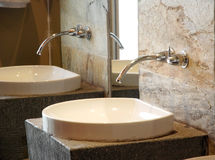 Bathroom tap stock photo