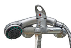 Bathroom tap and shower Royalty Free Stock Images