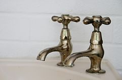 Bathroom tap Royalty Free Stock Image