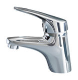 Bathroom tap. Vector realistic bathroom tap on white background Royalty Free Stock Photos