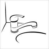 Bathroom taps sketch Stock Image